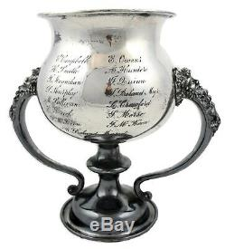Resplendent 1914 Arts & Crafts Style Silver Plate Baseball Loving Cup Trophy