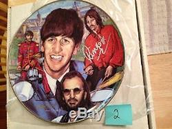 Ringo Starr ARTIST PROOF Autographed SILVER Signed Gartlan 10 1/4 Plate Beatles