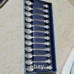 Rolex Bucherer Vintage Limited Novelty Collectible Spoon Set 12pcs with Box