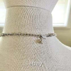 SPARKLING Vintage DONALD SIMPSON SilverPLATE Crystal RHINESTONE Choker NECKLACE