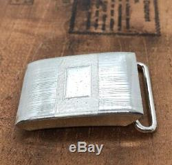 STERLING SILVER VINTAGE HICKOK BELT BUCKLE Blank Name Plate