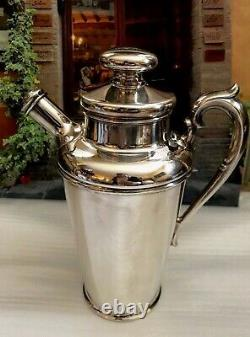 STUNNING 1920 1930's ART DECO SILVER COCKTAIL SHAKER COFFEE SERVER HALLMARKED