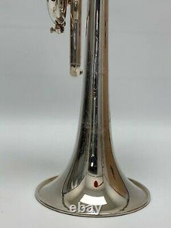 S. E. Shires C Trumpet Model TRQ13S Silver Plated withOriginal Hard Shell Case