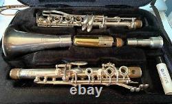 Selmer France Bb Silve Plated Clarinet & Original Ligature also case, mouthpiece