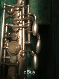 Selmer Super Balanced Original Silver Plate Bb Soprano Saxophone 51xxx New Pads