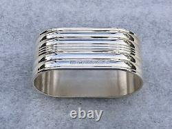 Set of 12 Silver Plated Napkin Rings, Model Aria by Christofle Paris