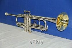 Silver Pan American Stencil Small Bore (0,425) Trumpet with Original case
