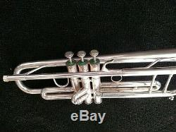 Silver Plated Blessing ML-1 Step-Up Trumpet with Original Blessing Hard Case