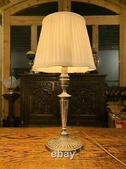Silver Plated Table Lamp By Barker Ellis Vintage Silver Antique