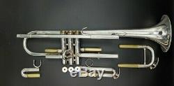 Silver Plated Yamaha Allegro YTR-5335 Step-Up Trumpet with Original Hard Case