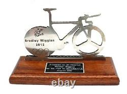 Silver Titanium Cycling Trophy Presented to Bradley Wiggins Barnoldswick 2012