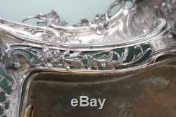 Stunning Art Nouveau large silver plated lady cherub centerpiece