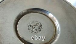 Stunning Rare Italian Silver Plate Cocktail Shaker Macabo Cusano Milanino c1950