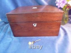 Stunning Victorian Dressing Box with Original Fittings-Silver Plate-Key-C 1860