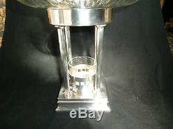 Superb Large J L Herrmann Silver plate & Cut Glass Centrepiece Secessionist