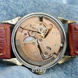 Swiss 1950' Omega 2596 Bumper Automatic Factory Original Dial Gold Plated Watch