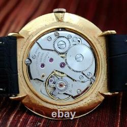 Swiss Original Girard Perregaux Gold Plated Manual Wind Gents Watch Black Dial