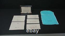 TIFFANY SILVER PLATE PERPETUAL CALENDAR with ORIGINAL TIFFANY FELT BAG