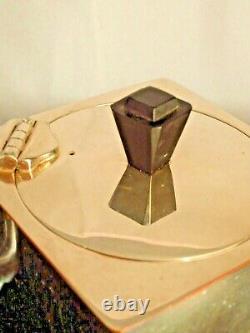 Tea Service Vintage Retro Deco Silver Plated Cubist