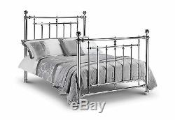 The Empress Chrome Plated Steel Bed in Double 4'6 135cm or Kingsize 5ft 150cm
