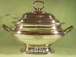 The Mosley Hotel Manchester Original Antique Silver Plated Soup Tureen & Ladle