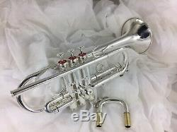 Trumpet Olds Custom Crafted Eb D 1970s ORIGINAL FACTORY Silver Great valves/play