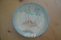 Two Clarice Cliff Hand Painted Silver Birch Plates, Original Art Deco