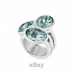 UNO de 50 TREASURE 3 Blue Crystal Silver Ring with Original Packging ANI0591 SZ LG