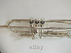 Very Nice S. E. Shires Silver Plated Q10S Professional Trumpet with Original Case