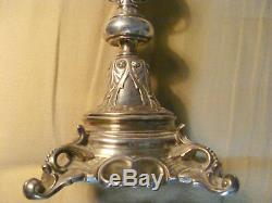 Very large and beautiful Norblin silver plated Candlestick Warsawa/Poland