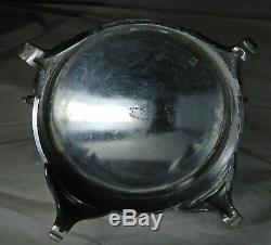 Victorian Triple Silver Plate Jewelry Box Beveled Glass Lid Pelton Bros