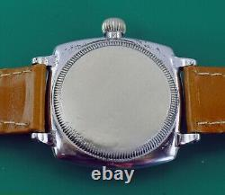 Vintage 1920's Early Oyster Case ROLEX Men's Military Type Watch Original Dial