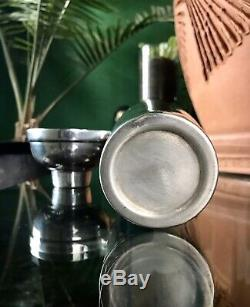 Vintage 1920's Silver Plated Cocktail Shaker Silver Over Brass Art Deco