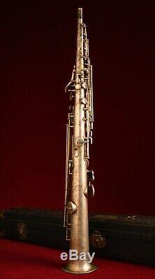 Vintage 1927 Buescher True Tone Bb Soprano Saxophone Original with Case