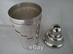 Vintage 1930's Napier Dial A Drink Silver Plated Cocktail Shaker