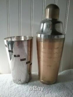 Vintage 1930's Napier Gold & Silver Plated Cocktail Shaker VERY RARE