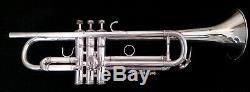 Vintage 1980 L. A. Benge 3 Bell Silver Plated Professional Trumpet/ Original Case
