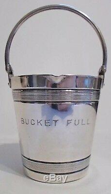 Vintage 20s-30s Napier Bucket Full Jigger Silver Plate Rare