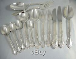 Vintage 8 Person Oneida Community Affection Silver Plate Cutlery set 70pce