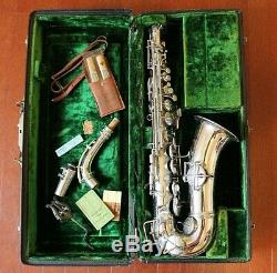 Vintage Alto CG Conn 1914 Saxophone with Original Case & Accessories EXCELLENT