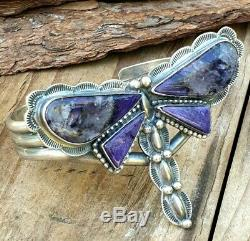 Vintage Amethyst Butterfly Bangle Bracelet Silver Plate Jewellery Jewelry