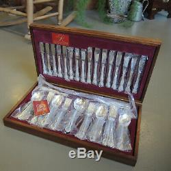Vintage Australian Silver Plate Rodd Silver Glory Cutlery Set for 8 with Canteen