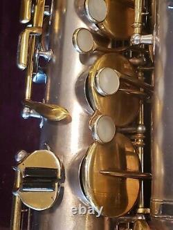Vintage Buescher True Tone C Melody Saxophone-Clean-Silver-Original Mouthpiece