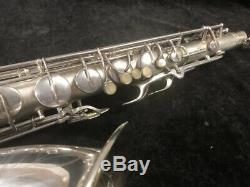 Vintage C. G. Conn 10M Original Silver Plated Naked Lady Tenor Sax Serial #311959