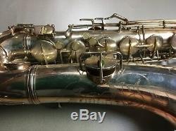 Vintage Conn 1931 Transitional Tenor Sax Saxophone Original Silver Plated