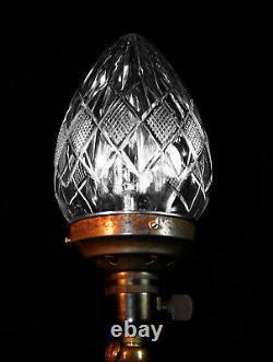 Vintage Edwardian C1910 silver plated 3 handle urn shaped Royal Navy desk lamp