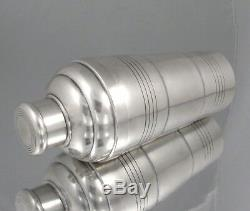 Vintage French Silver Plated Cocktail Shaker