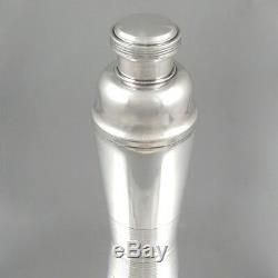Vintage French Silver Plated Cocktail Shaker, Signed