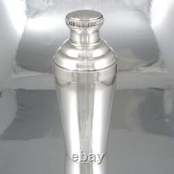 Vintage French Silver Plated Cocktail Shaker, Stamped, Paul Tosany, Paris, 1920