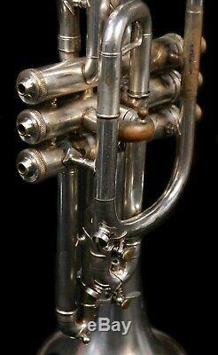 Vintage HN White King Cornet with Original Case 1905-1910, Silver Plated